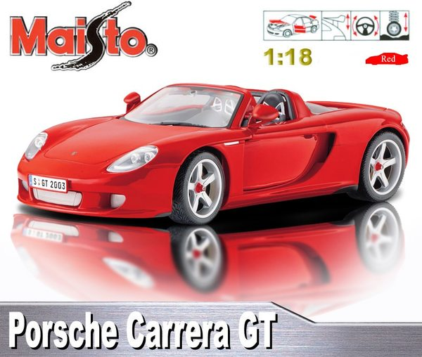 【Maisto】PORSCHE CARRERA GT《1/18 》合金模型車 (鐵灰)