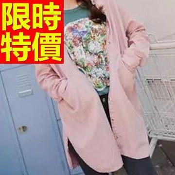 長袖襯衫-長版修身街頭風品味超人氣女裝上衣3色59n32巴黎精品
