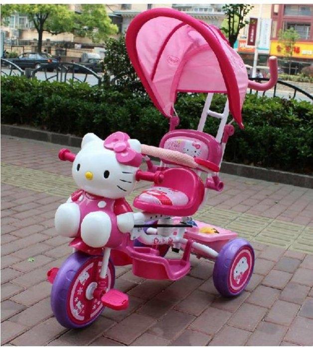 Hello kitty兒童三輪車腳踏車減震可手推潮咖範兒