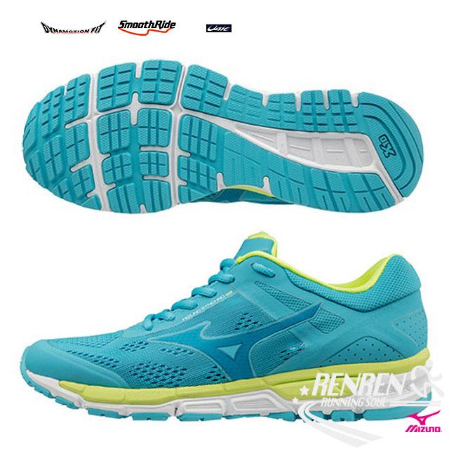 美津濃 MIZUNO 女慢跑鞋 SYNCHRO MX 2 (W) (水藍) X10耐磨大底路跑鞋 翁滋蔓代言鞋款【 胖媛的店 】