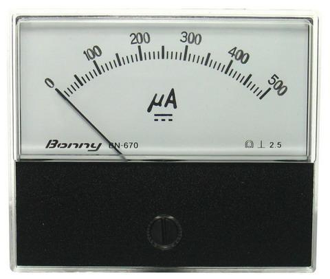 DC500uA 670指針式工業用直流電流錶頭