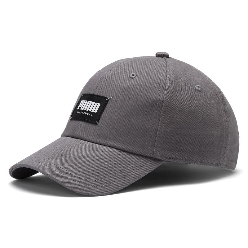 Puma Fabric 遮陽帽 老帽 灰色 運動帽 遮陽 Logo 慢跑 防曬 休閒 鴨舌帽 帽子 02232902