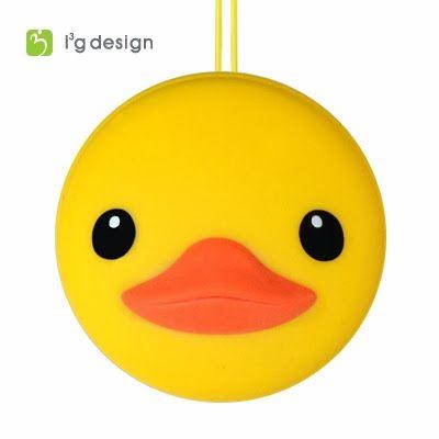 macamini duck黃色小鴨迷你馬卡龍螢幕擦拭布耳機塞吊飾i3g design