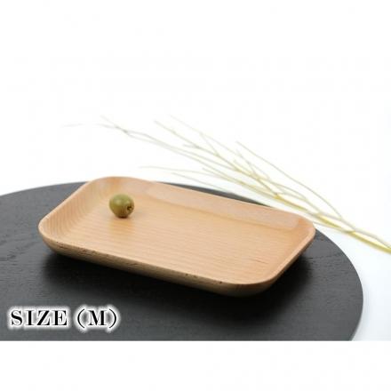【天然原木作】閒情逸事長型盤/餐盤/ 木盤/餐具 山毛櫸M