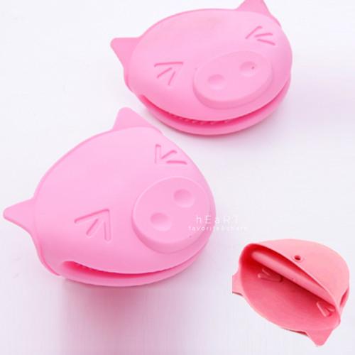 小豬微波爐防滑隔熱手套 不挑色 止滑 矽膠手套