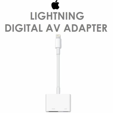 【Apple 蘋果】Apple Lightning Digital AV Adapter 數位影音轉接器