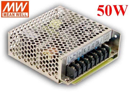 明緯MW 5V/4A 15V/1.5A -15V/0.5A 50W RT-50C 機殼型(Enclosed Type)交換式電源供應器