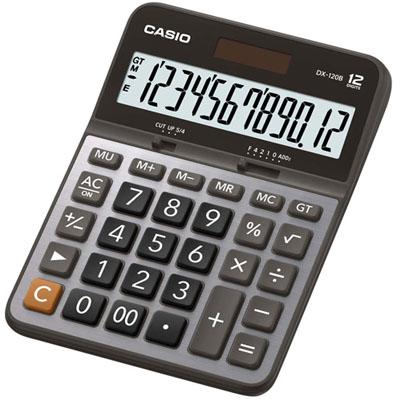 CASIO卡西歐12位元商用計算機-黑灰DX-120B KO01003大創意生活百貨
