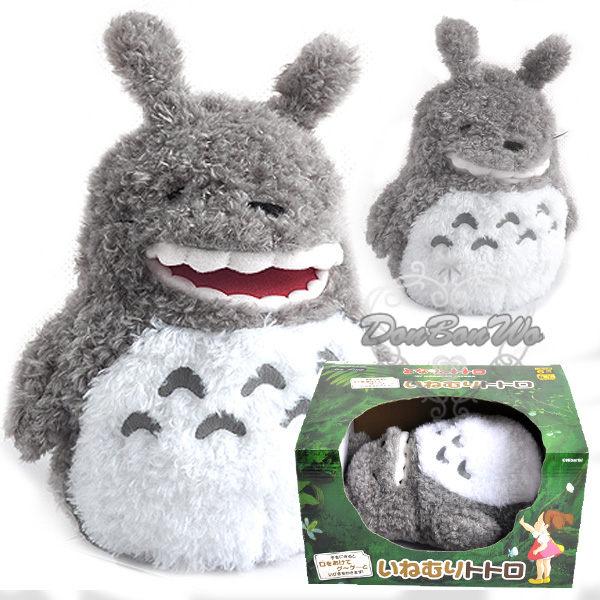 宮崎駿龍貓豆豆龍玩偶絨毛娃娃有聲玩具睡覺打呼款663038通販屋
