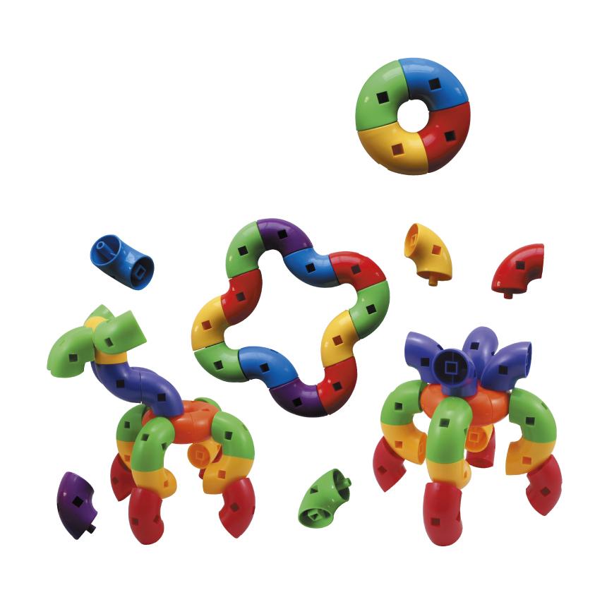 彎曲旋轉 兒童幼兒教具玩具道具遊戲 想像創造建構造型組裝積木拼接配件