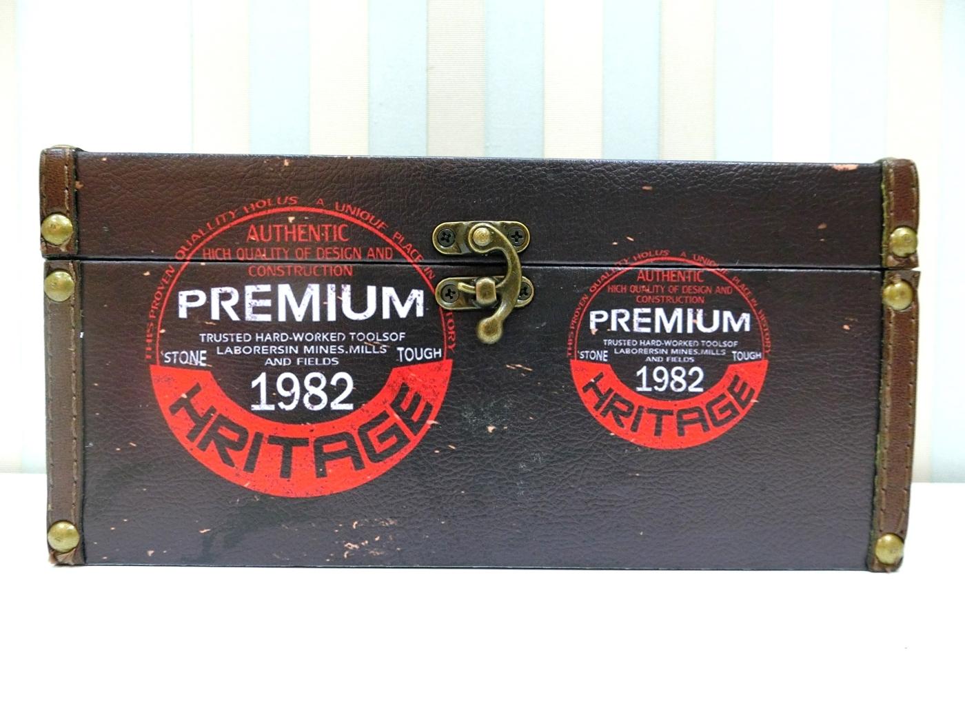木製長形面紙盒LA57工業風貼皮面紙盒1982皮革面紙盒木製面紙盒收納絢寓居家