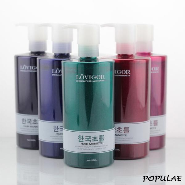 韓國LOVIGOR護髮染8色可選大容量450ml贈手套染色護髮染髮乳流行馨飾力