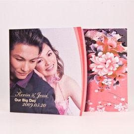 相片喜帖花好月圓系列Ⅰ-粉紅編號p001-a特色喜帖創意婚卡婚紗喜帖精緻婚卡幸福朵朵