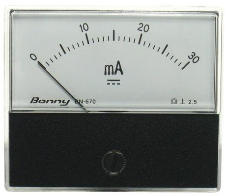 DC30mA 670指針式工業用直流電流錶頭