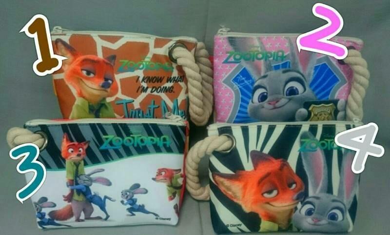 【現貨】《動物方城市》正版授權【狐狸 茱蒂兔】超大棉繩筆袋 置物袋收納袋鉛筆盒化妝包