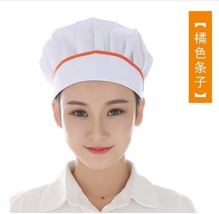 廚師帽女工作帽食品酒店帽廚房防塵防油煙餐廳食堂麵包烘培師帽子【下標留言要的顏色】