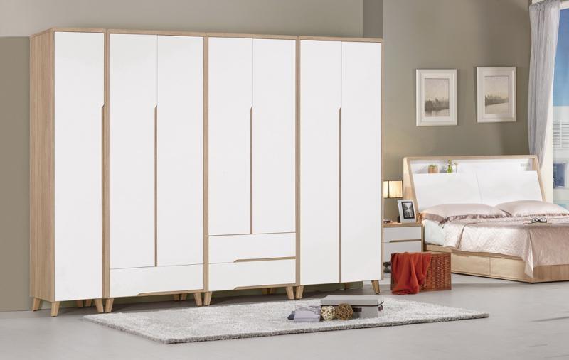 8號店鋪 森寶藝品傢俱  570-4 (3313) 伯妮斯1.3尺衣櫥(單吊)   (右4)  (附活動隔板3片)