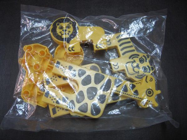 【台灣製我高OK積木】大顆粒專用 動物配件包(長頸鹿.獅子.老虎)