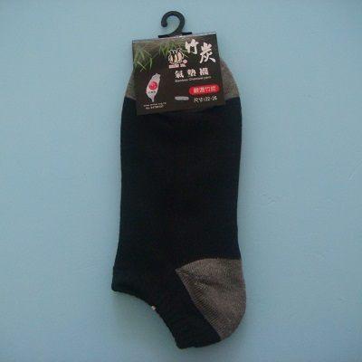臺灣製 竹炭氣墊襪(黑色)/襪子/踝襪/船型襪/隱形襪/吸濕.排汗.除臭.嚴選竹炭