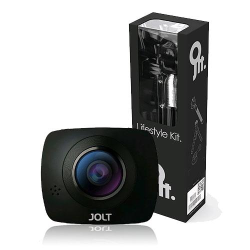 GIGABYTE技嘉JOLT DUO 360度全景雙眼運動攝影機生活配件組