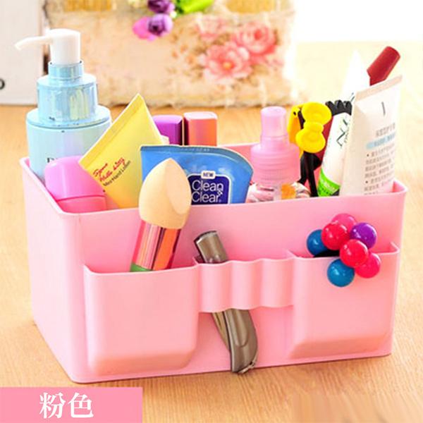 收納盒辦公桌雜物收納盒收納用品化妝品化妝盒桌上收納盒置物盒PMG167收納女王