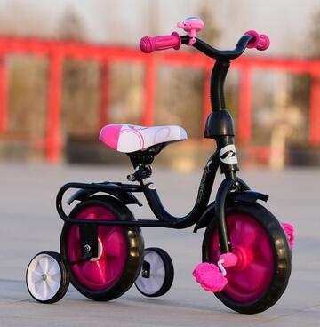 兒童三輪車自行車腳踏車2 3 4 5小孩四輪自行車平衡車黑管-炫彩腳丫折扣店