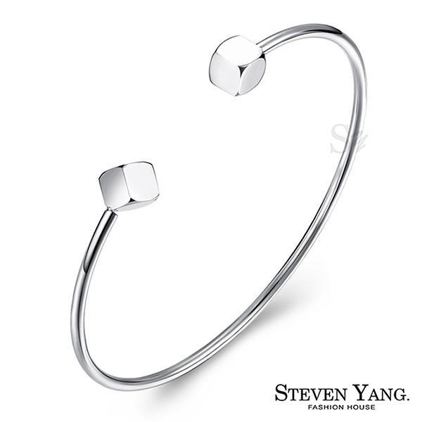手環STEVEN YANG西德鋼飾 方糖C型手環 銀色款 孔孝真韓劇相似款 韓版