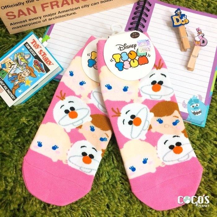迪士尼TSUM TSUM疊疊樂冰雪奇緣雪寶艾莎安娜短襪造型襪襪子直版襪COCOS JI039