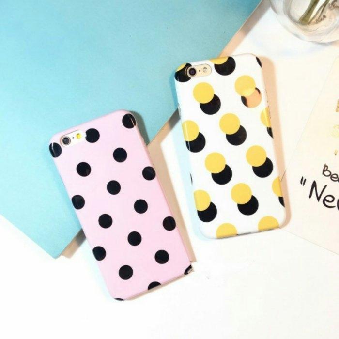 iPhone手機殼韓國少女心光面波點矽膠軟殼全包蘋果iPhone7 iPhone6手機殼