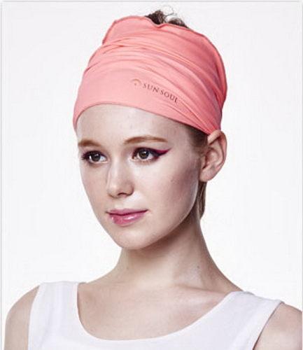 SUNSOUL HOII后益-新光感防曬光能布-頭巾UPF50紅光有機樂活購