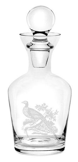 英國Spode有蓋玻璃酒器750ml-雉雞