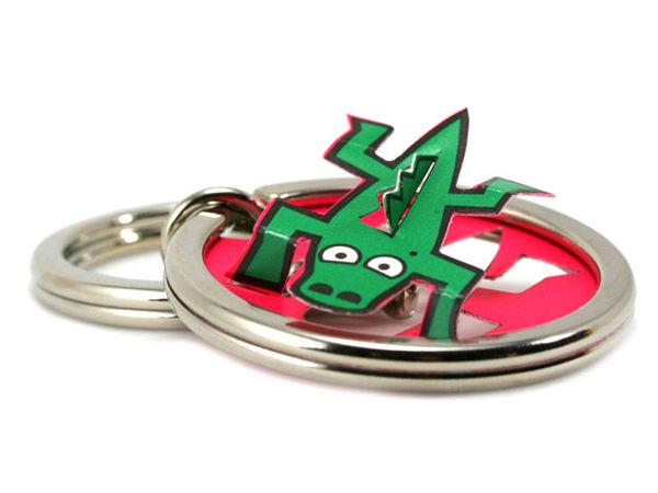 ☆猴子設計☆鱷魚立體鑰匙圈