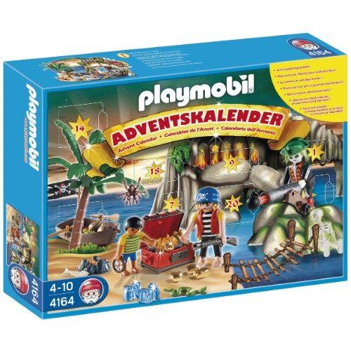 Playmobil 摩比聖誕降臨曆海盜與寶藏組-4164-創意組合式積木