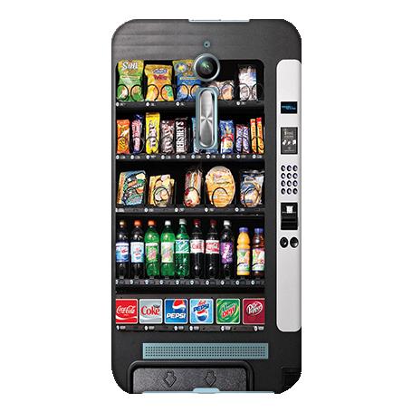 機殼喵喵華碩asus ZenFone go ZB500KL X00ADA手機殼軟殼保護套自動販賣機
