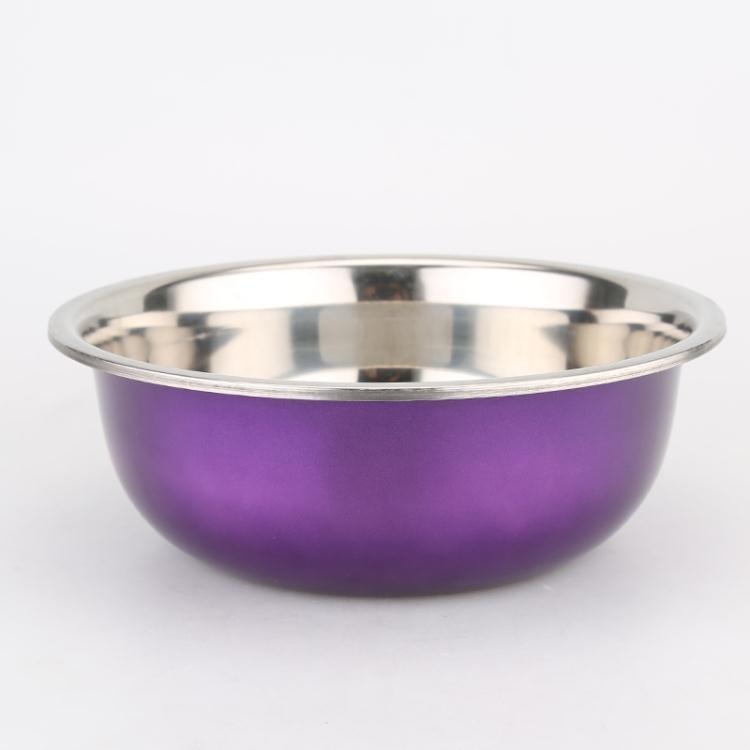 打蛋盆-彩色加厚五件套5個裝不銹鋼盆打蛋盆臉盆湯盆淘米盆洗菜籃大咖玩家