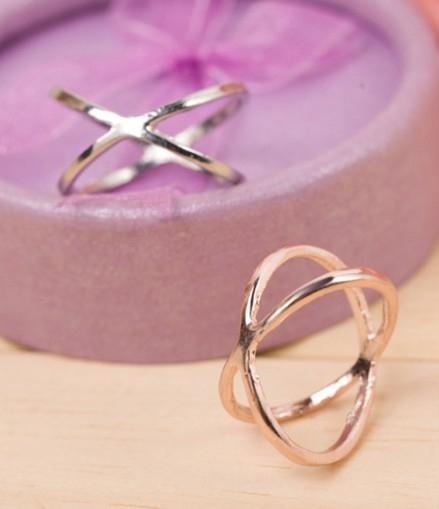 [Ministyle] 韓國 飾品 女 X交叉 立體 鏤空 戒指 環繞 大熱款 搭配 關節 食指 指環 無限大 氣質 百搭