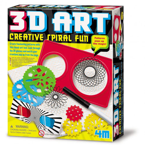 4M美勞創作3D立體創意畫冊3D Art Pad Creative Spiral Fun 3D JOYBUS玩具百貨