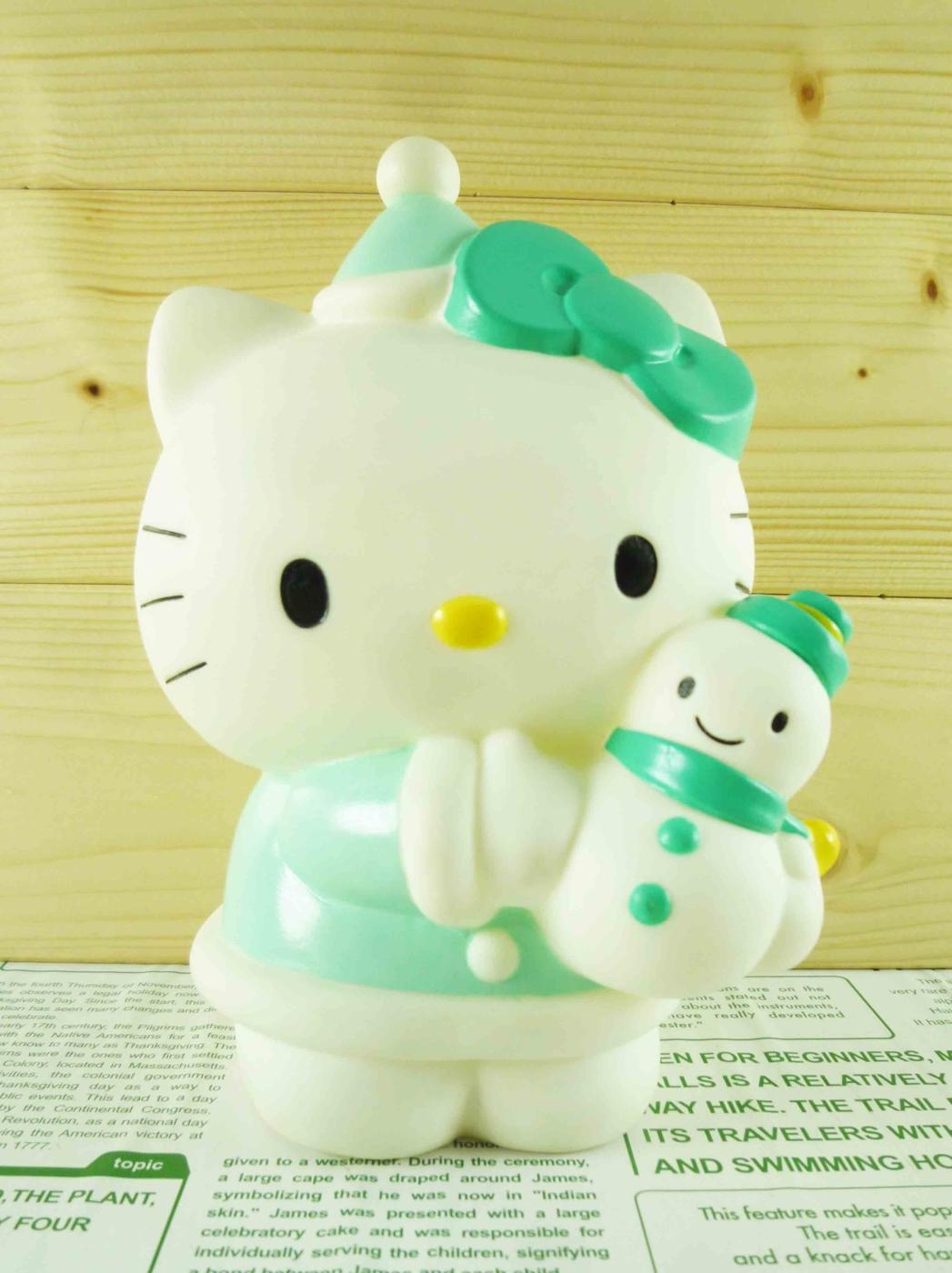 震撼精品百貨Hello Kitty凱蒂貓~塑膠造型存錢筒~聖誕綠