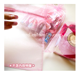 幸福朵朵素面紗袋16x22cm大尺寸-皆粉紅色喜糖手工皂包裝袋紗網袋束口袋包裝材料資材
