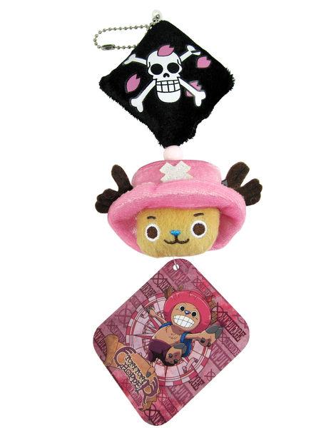 卡漫城喬巴海賊王絨毛玩偶吊飾版One Piece航海王Chopper包包掛飾娃娃~8 5元