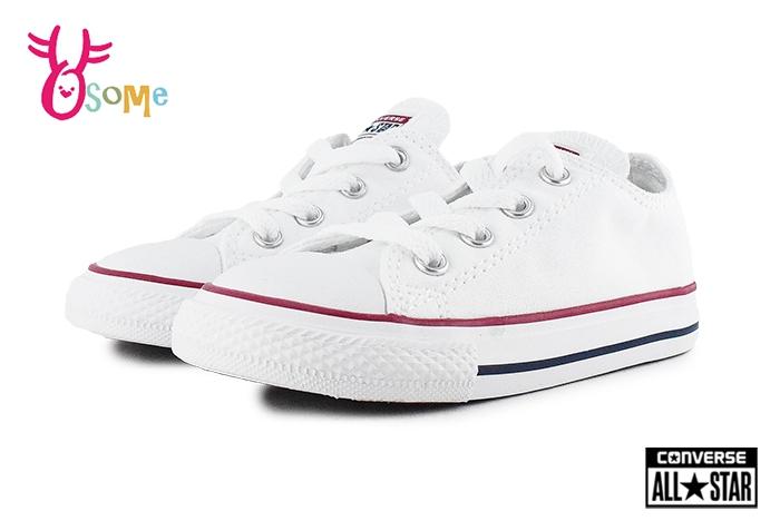 All STAR Converse帆布鞋小童基本款低筒帆布鞋G9833白色OSOME奧森童鞋小朋友