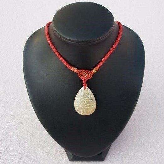 歡喜心珠寶天然珊瑚玉菊花化石墜子珊瑚化石附保証書菊花花開富貴超低價