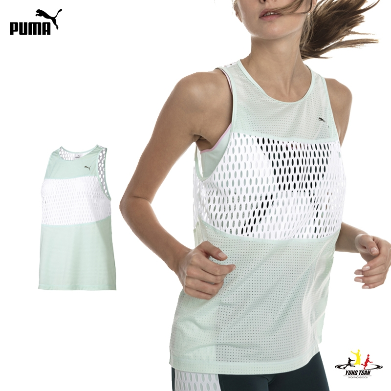 Puma Cosmic TZ 女 粉綠 運動背心 訓練 輕質 吸汗 乾爽 舒適 dryCELL技術 透氣 背心 51783703