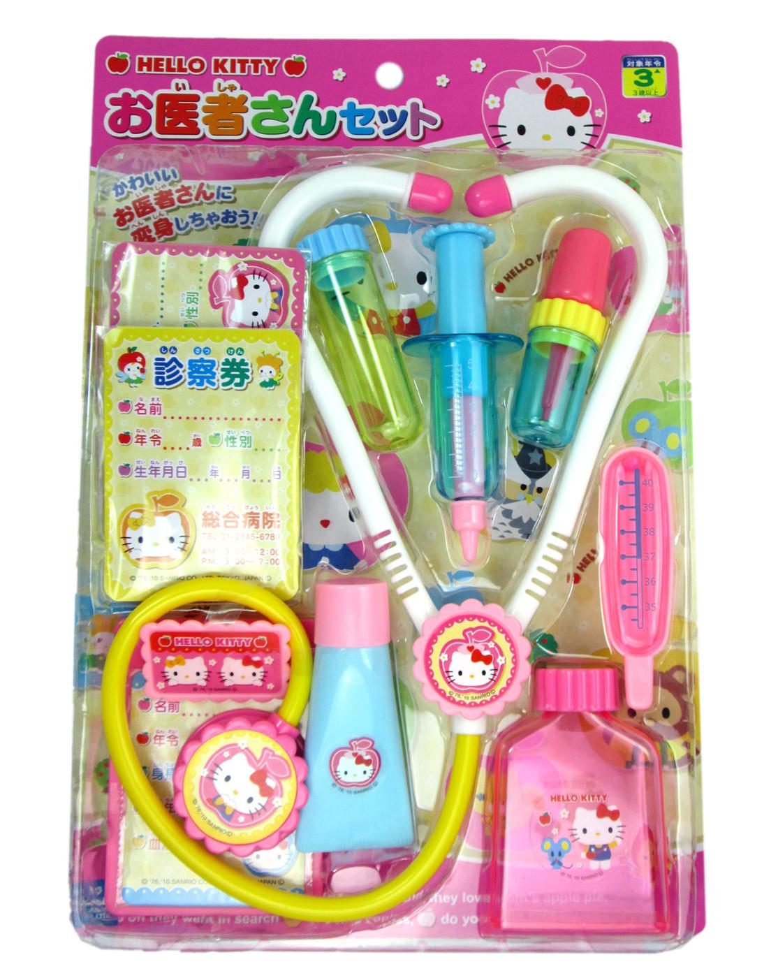 卡漫城Hello Kitty醫護遊戲組版醫生小護士扮家家酒ST兒童安全玩具