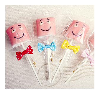 幸福朵朵幼稚園兒童節.聖誕節禮物-手作巧克力棉花糖x50支最多可選5款造型禮贈品婚禮小物