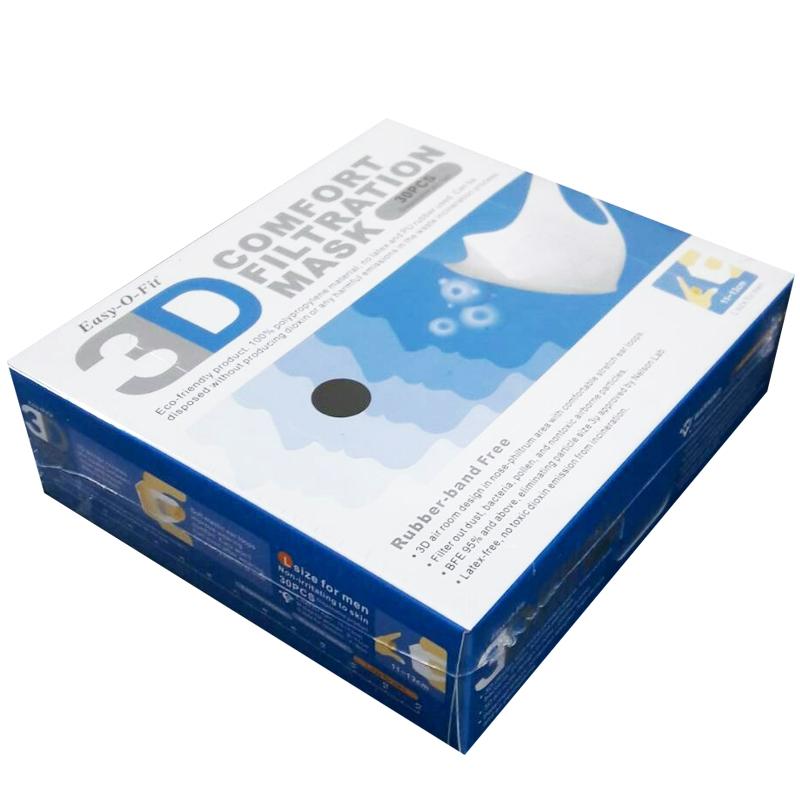 【現貨供應】純黑色成人3D立體口罩(非醫療用),黑色(L)11-13公分