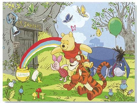 Ravensburger維寶迪士尼100片拼圖-小熊維尼與彩虹Disney Winnie the pooh