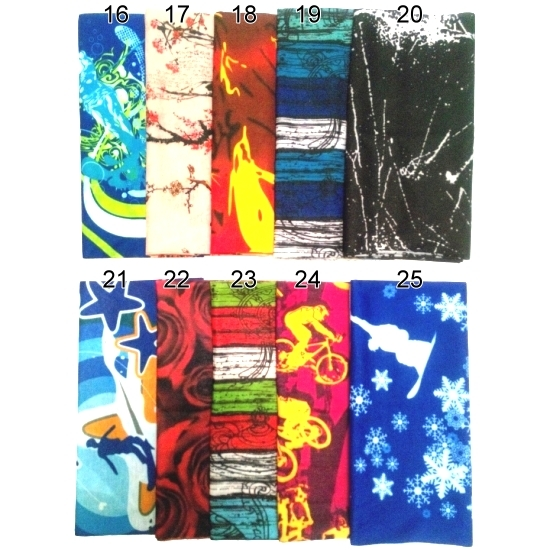 魔術頭巾 (樣式#16~#28) - 防曬防塵抗菌速乾,多種紮法讓您抗暑又有型~