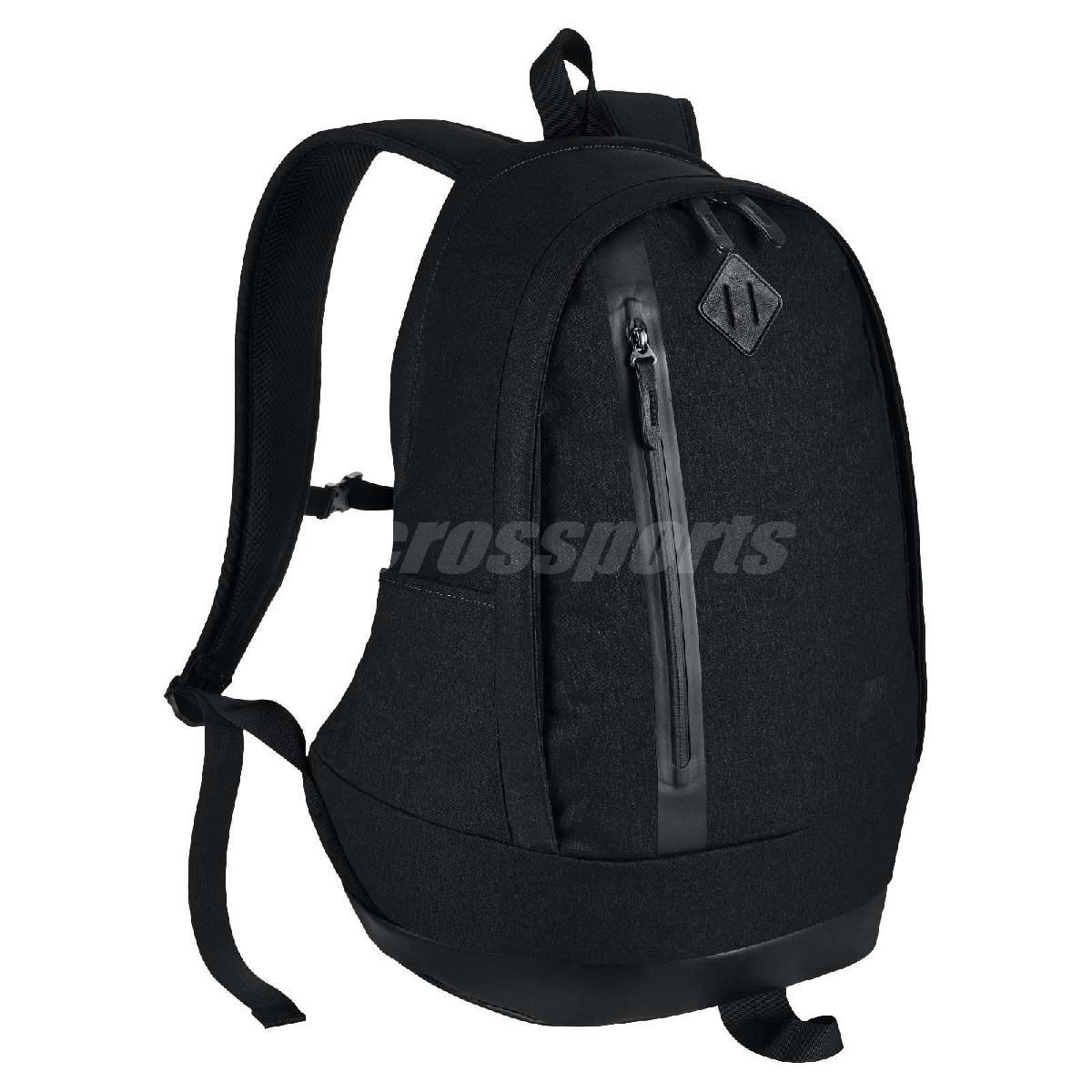 Nike後背包Cheyenne黑全黑色皮革拉鍊經典包包筆電包書包男女PUMP306 BA5265-014
