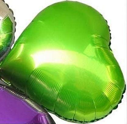 愛心18吋鋁箔氣球-綠色(未充氣)~~求婚道具/婚禮 生日 耶誕節 尾牙佈置